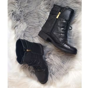 Vince Camuto Taryn black leather boots